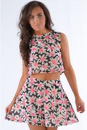 dress,ladies,aesop,floral,print,two-piece,set