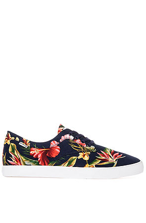HUF Sneaker The Sutter in Navy Floral Blue -  Karmaloop.com