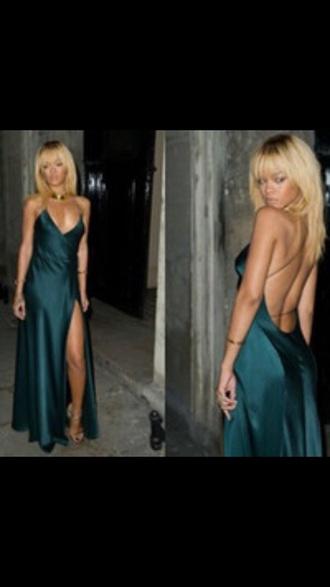 dress rihanna green dress