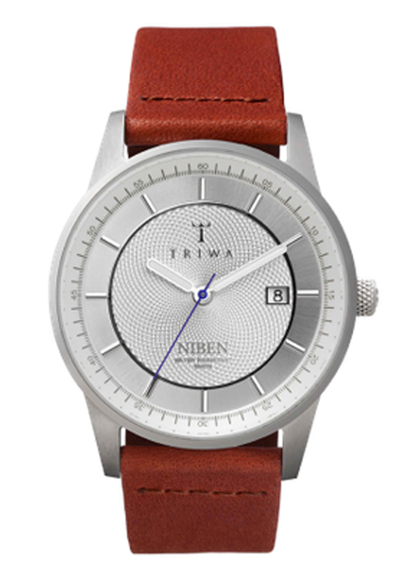 Triwa Stirling Niben Watch - Sliver & Brown in To-Be-Confirmed