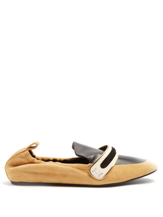 flats leather flats leather suede tan black shoes