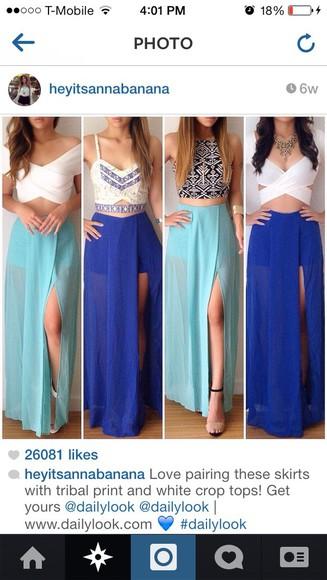 blue shirt skirt cute outfits