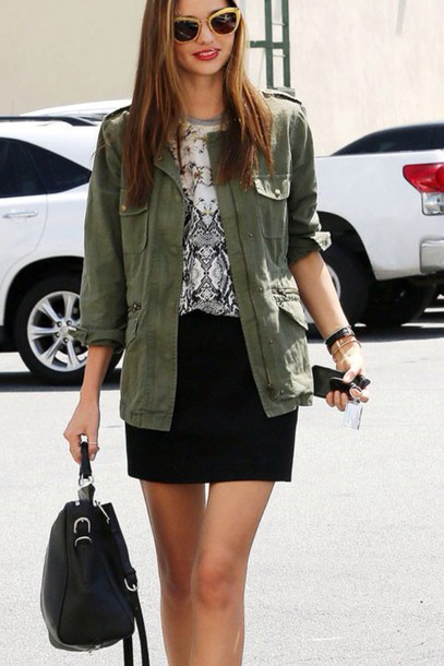 jacket khaki miranda kerr blouse