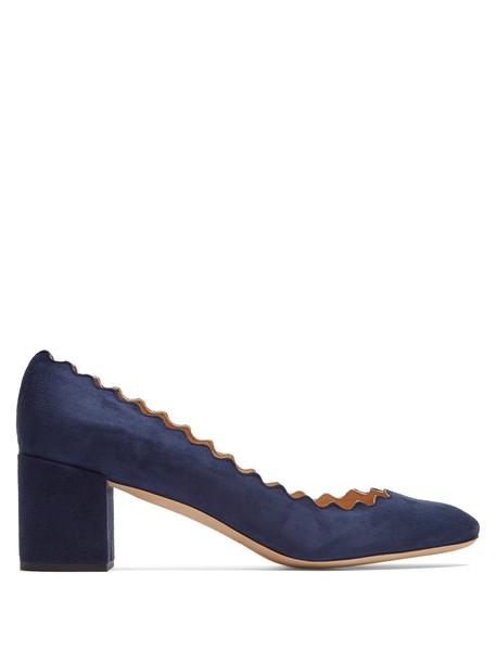 Chloe suede pumps pumps suede navy shoes