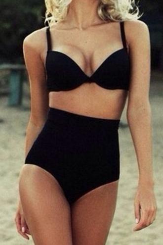 swimwear zaful bikini black bikini black swimwear high waisted bikini
