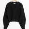 & other stories | wool button sweater | black