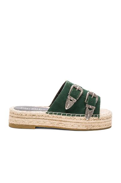 Nightwalker sandals dark green
