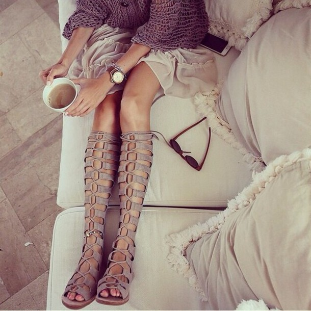 shoes sandals taupe sandals knee high gladiator sandals taupe heels lace up boots suede boots