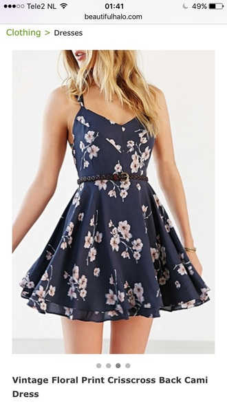dress floral fashion blue summer spring navy flowers girly beautifulhalo