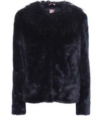 jacket faux fur jacket fur jacket fur faux fur blue