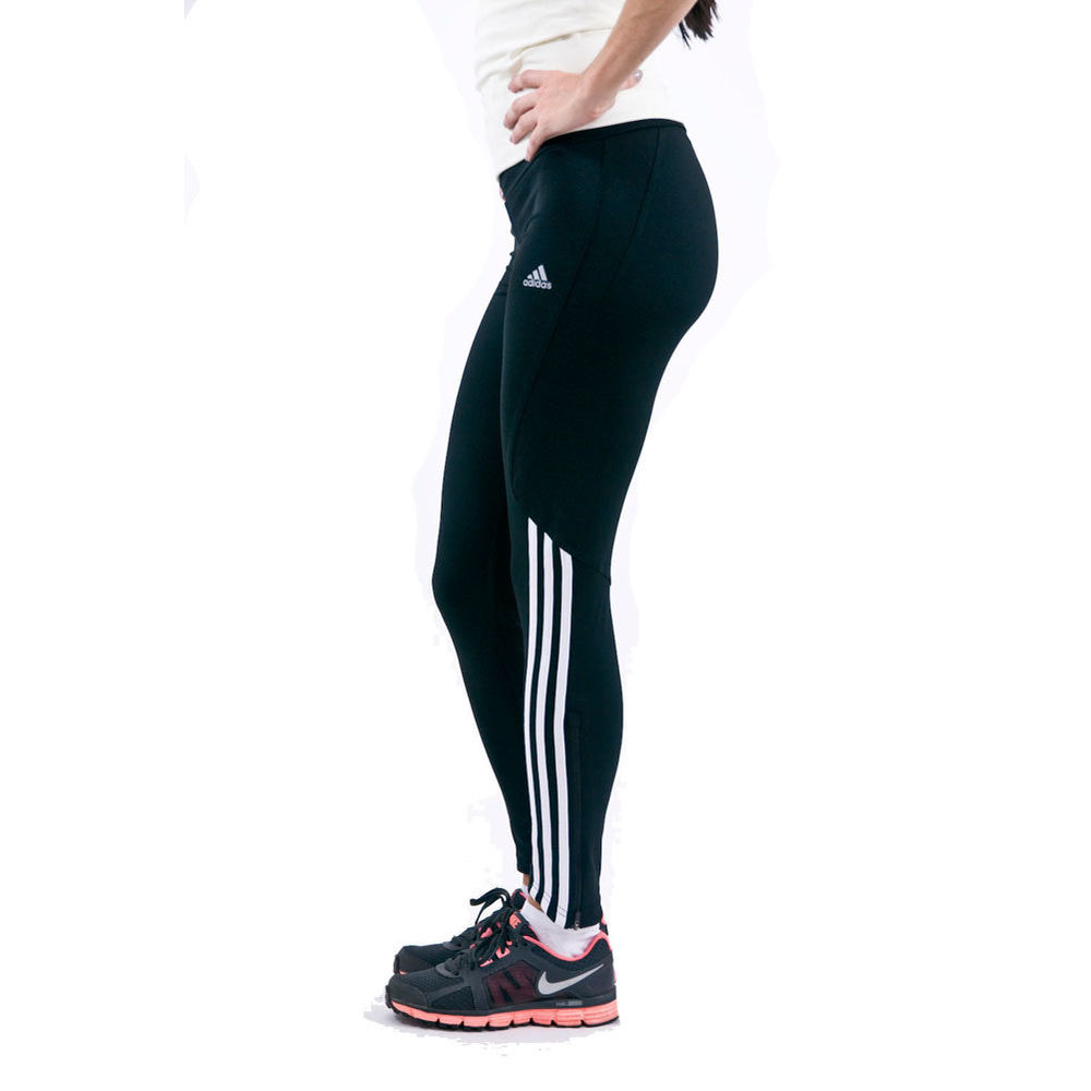 Adidas 3 Stripe Tights Running Fitness Gym Jogging tracksuit Womens Ladies | eBay
