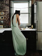 dress,mint,green,maxi
