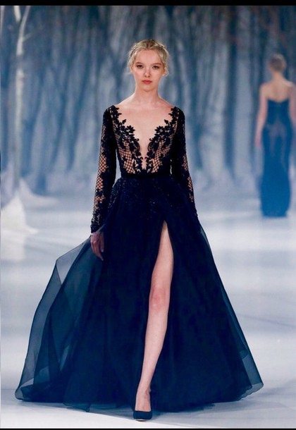 dress dark blue prom dress black dress lace dress black prom dress white prom dress slit dress long prom dress gown long sleeve prom dress formal black dress evening dress long evening dress evening outfits formal event outfit formal dress