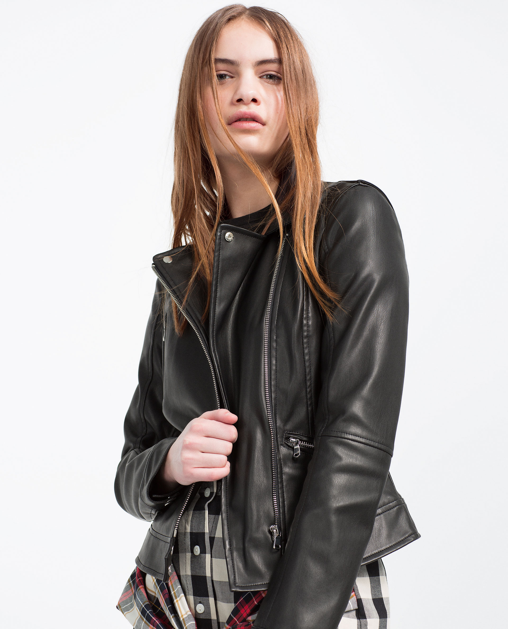 faux leather biker jacket faux leather leather woman