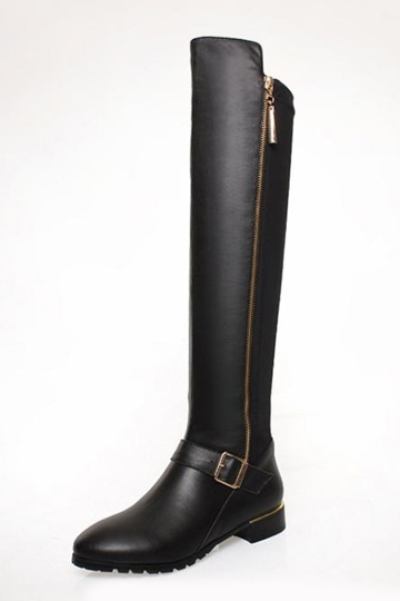 Thigh High Knight Boots with Buckle [FABI1407]- US$99.99 - PersunMall.com