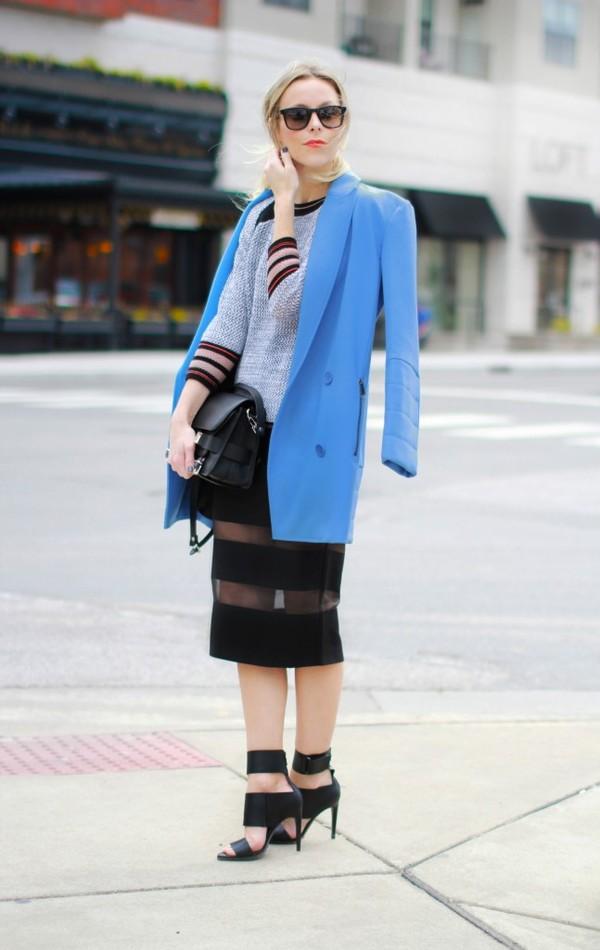 happily grey coat sweater skirt shoes bag sunglasses