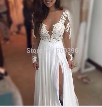 dress white grey prom prom dress