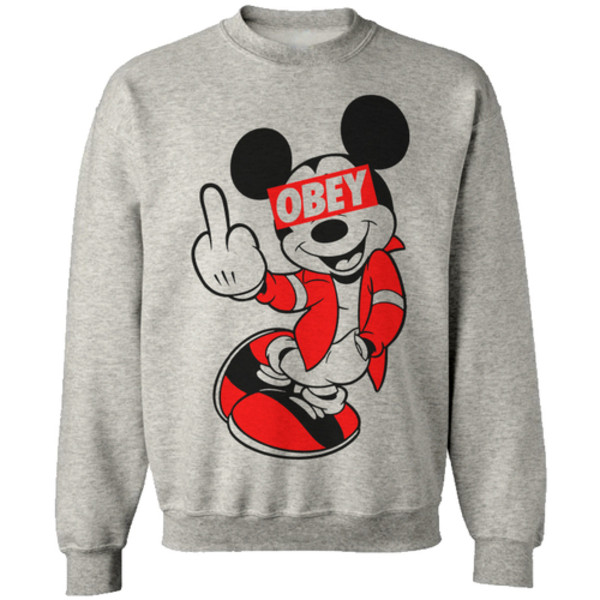 sweater mickey mouse obey blouse coolcat