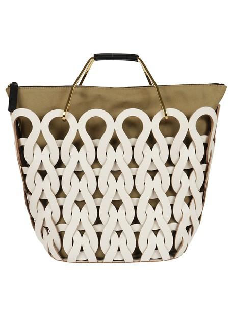 MARNI braided white bag