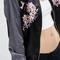 Embroidery bird bomber jacket