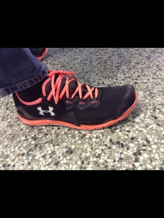 shoes orange underarmour men's shoes