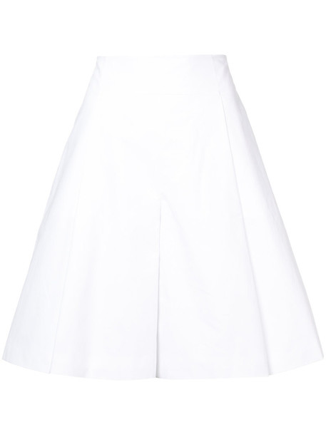 DELPOZO shorts bermuda pleated women white cotton