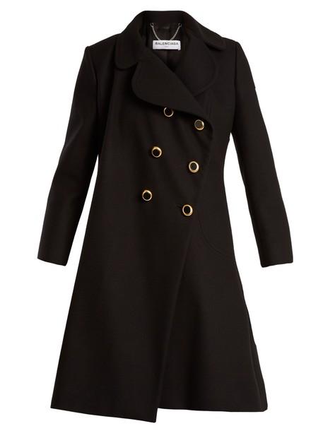 Balenciaga coat feminine black