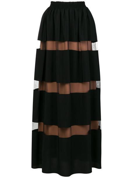 No21 skirt maxi skirt maxi women black silk