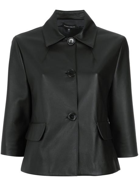 Gloria Coelho cape women leather black top