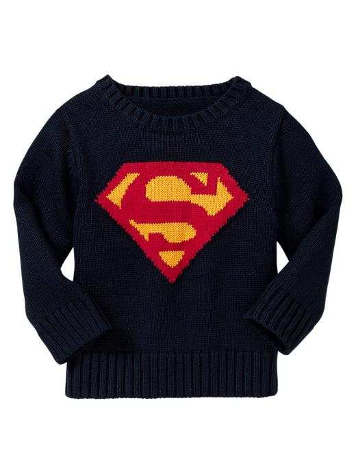 Junk food baby gap nwt superhero superman sweater 3 4 5