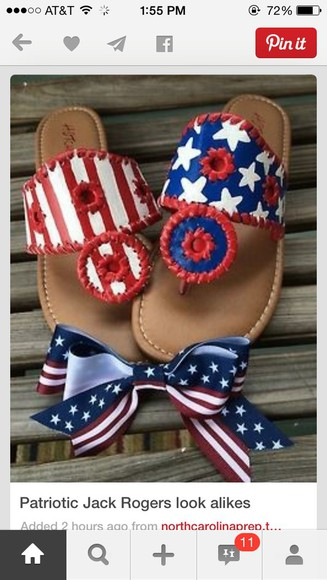 shoes america flag sandals