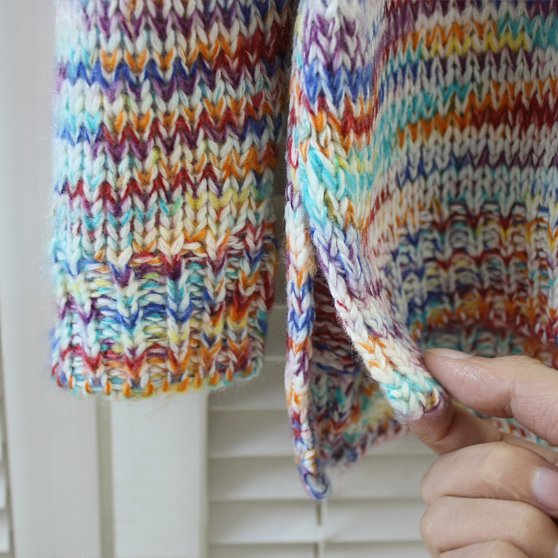 2014 Autumn Winter Sweet Gentlewomen Topshop Vintage Rainbow Jumper Knitted Sweater Women Pullover Brand 8050-inPullovers from Apparel & Accessories on Aliexpress.com