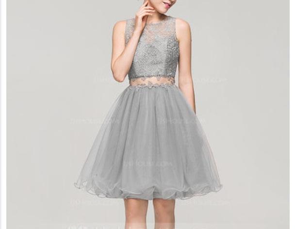 dress grey grey dress prom dress princess dress