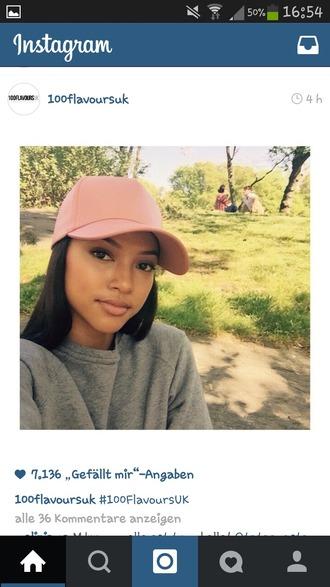 hat snapback cap pink snapback karrueche pink cap urban pastel pink