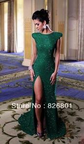 dress,emerald green,green dress,prom,prom dress,long,long prom dress,green,dark green dress,sparkly dress,long dress