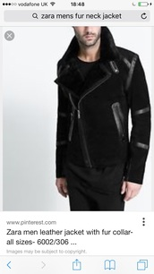 jacket,london,zara,fur collar jacket,polyester,menswear
