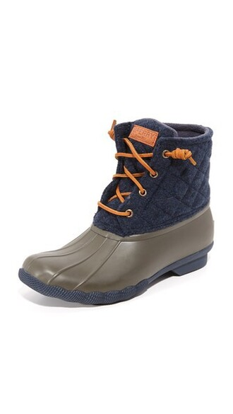 quilted booties navy wool shoes