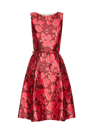 dress sleeveless floral print pink