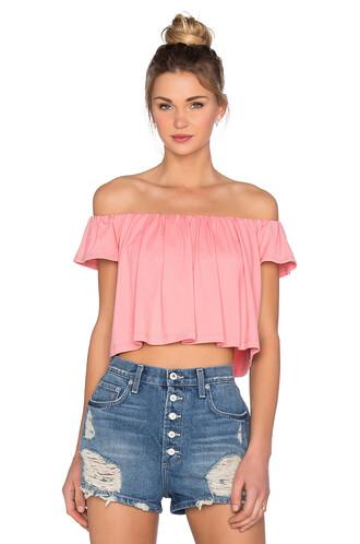 top off the shoulder pink