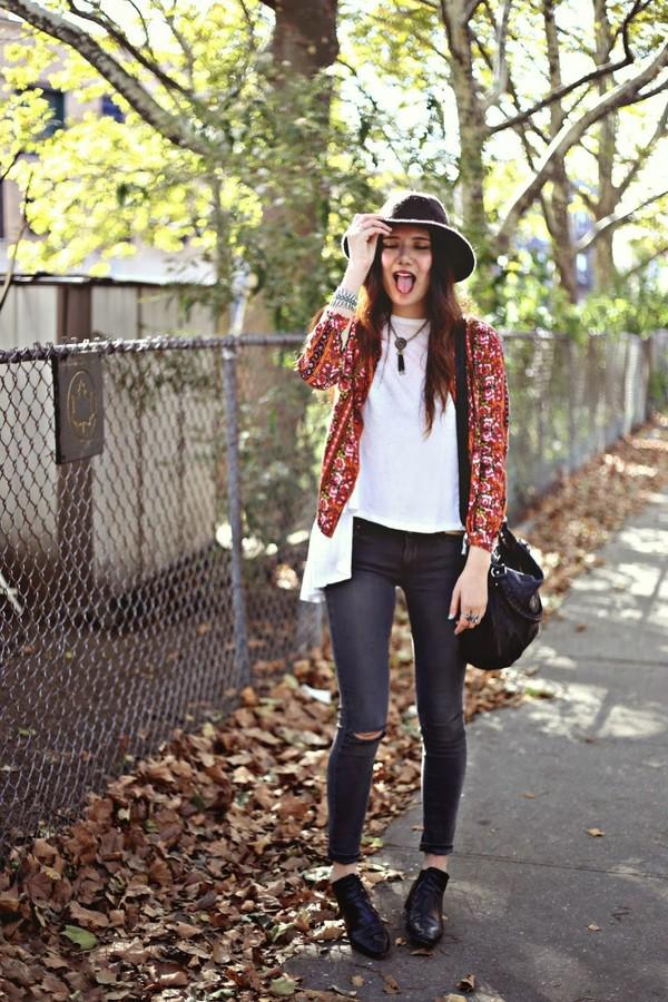 color me nana blouse t-shirt jeans shoes hat jewels
