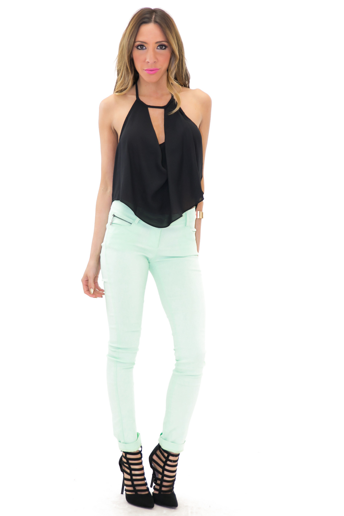 EVERITT SKINNY JEAN - Mint | Haute & Rebellious