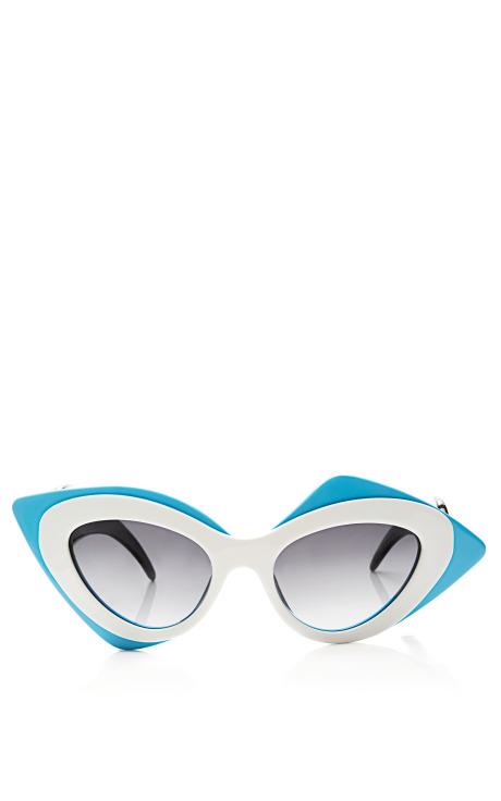 The Row Round Oversized Acetate Sunglasses by Linda Farrow - Moda Operandi