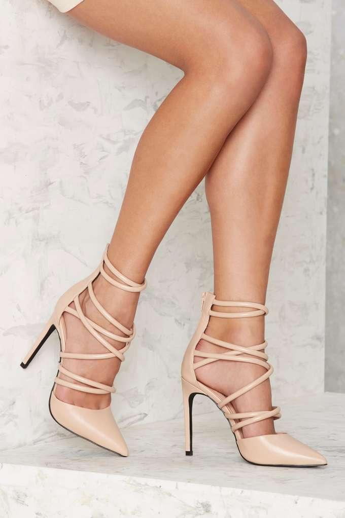 Nasty Gal Cecily Vegan Leather Heel