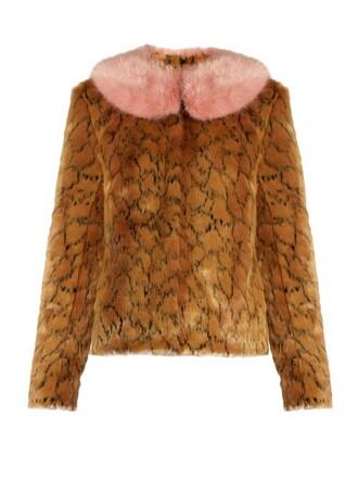 jacket fur jacket fur print