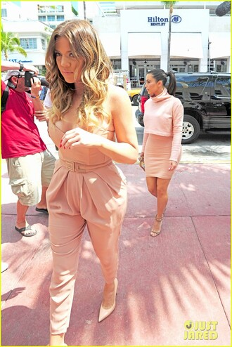 pants peach cream jumpsuit peach dresses romper pear body