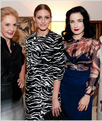 dress zebra print olivia palermo