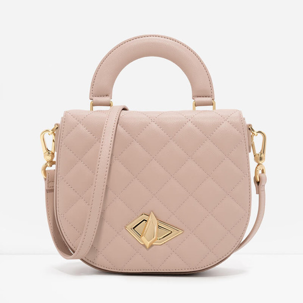 quilted bag nude