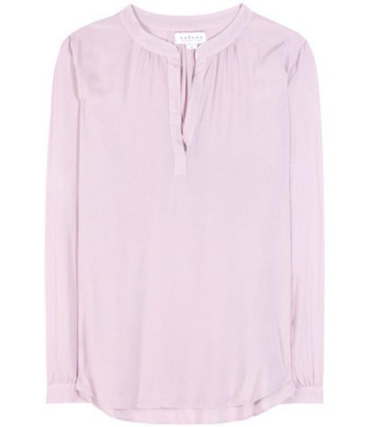 Velvet Rosie Jersey Top in purple