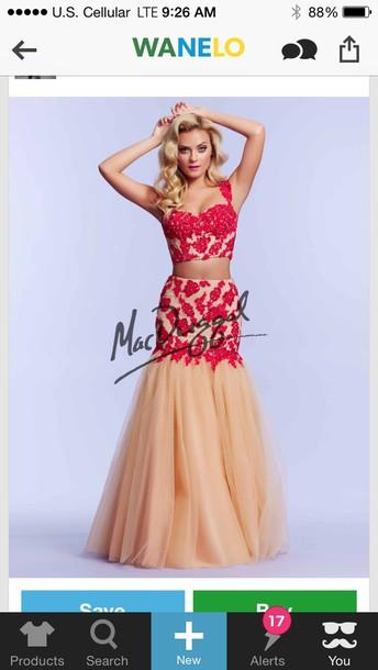 dress prom dress prom gown red dress lace dress