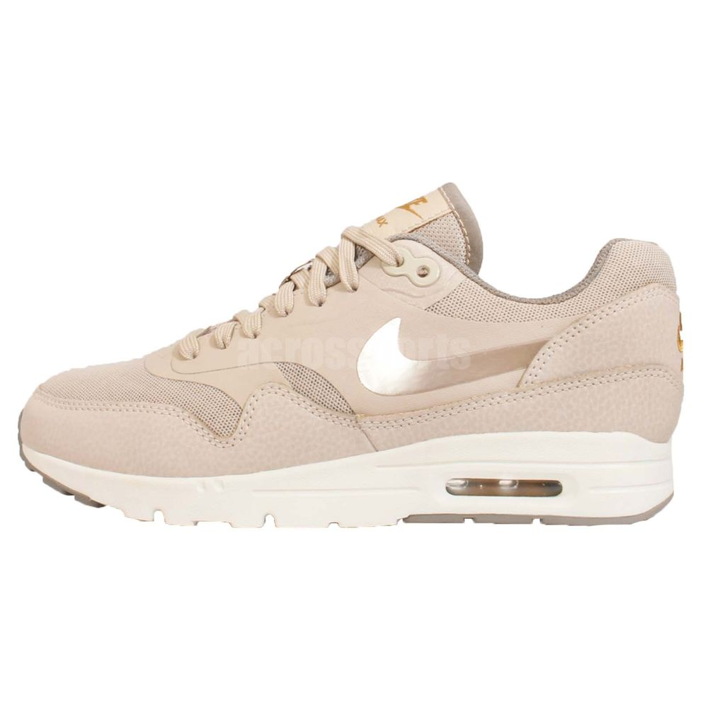 Details about Womens Nike Air Max 1 Ultra Essentials 704993 004 Black Wolf Grey White Trai
